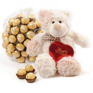 Meda i Ferrero buket